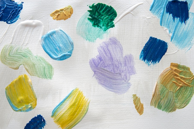 Flat lay acrylic paint wallpaper