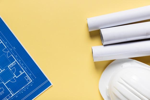 Плоская планировка различных архитектурных элементов