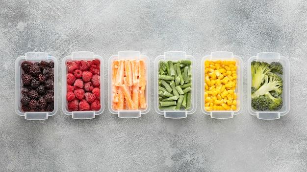 냉동 식품의 평면 배치