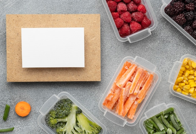 Плоская выкладка замороженных продуктов