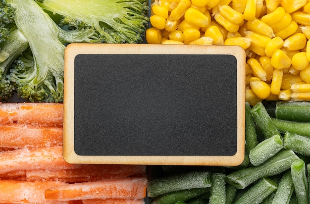 冷凍食品のフラットレイアレンジメント