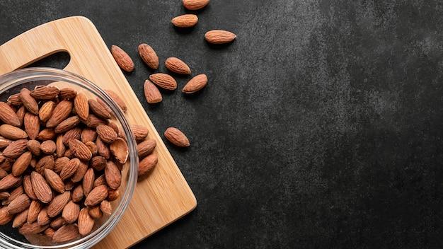 免疫力を高めるための健康食品のフラットレイアレンジメント