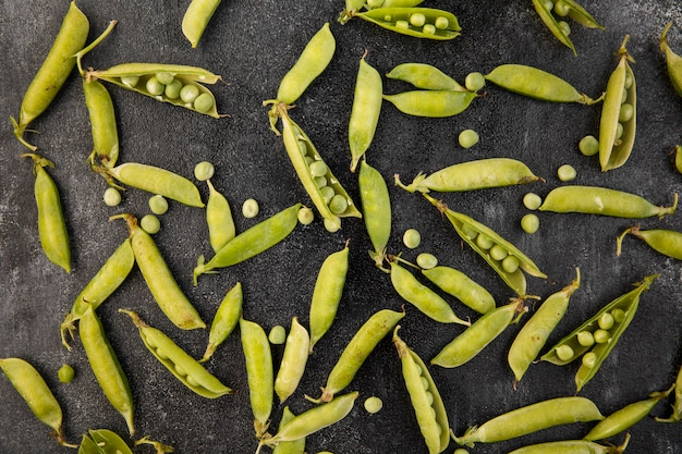 エンドウ豆の平置き