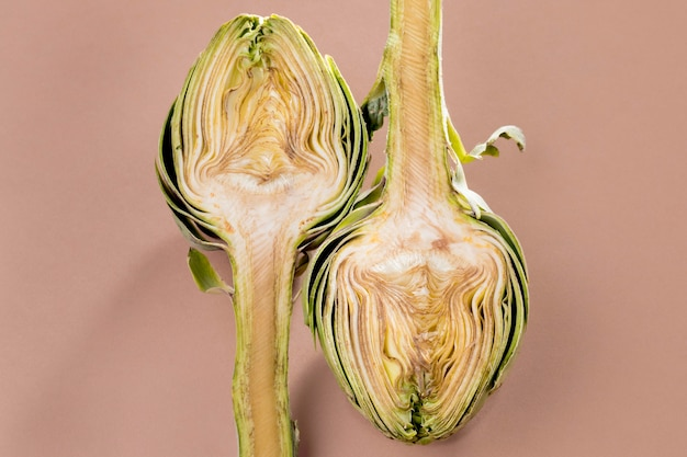 Flat lay of artichoke