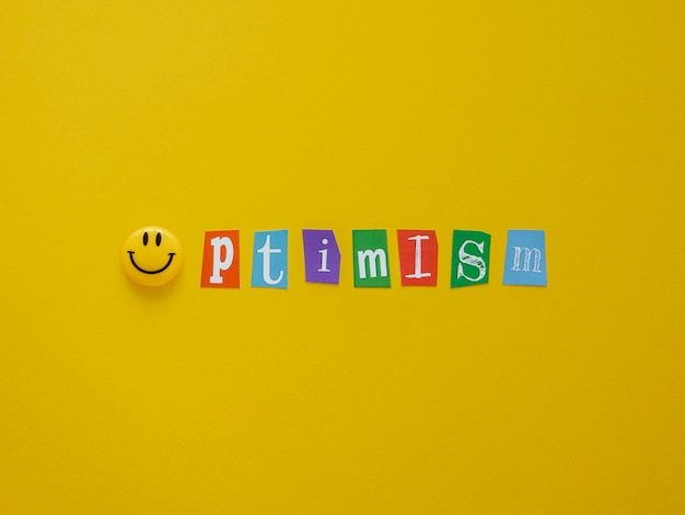 Плоский ассортимент элементов концепции оптимизма