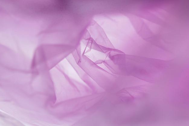 보라색 비닐 봉지의 평면 배치 구색