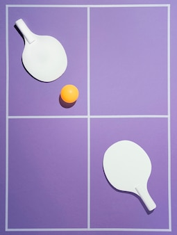 Palla e pagaie da badminton piatte