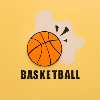 Flat lay of basketball