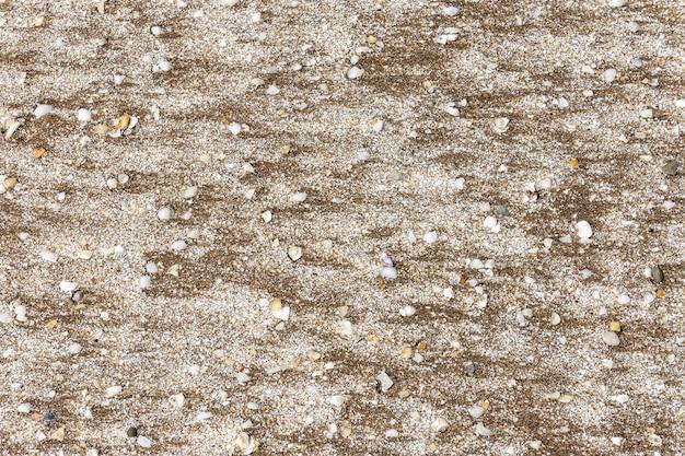 Lay piatto di spiaggia di sabbia