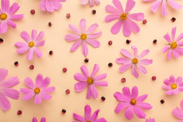 Плоская планировка красивая композиция из цветов