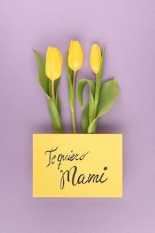 Плоская планировка красивой композиции на день матери