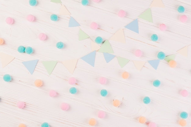 Flat lay birthday composition