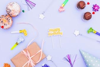 Плоская композиция на день рождения