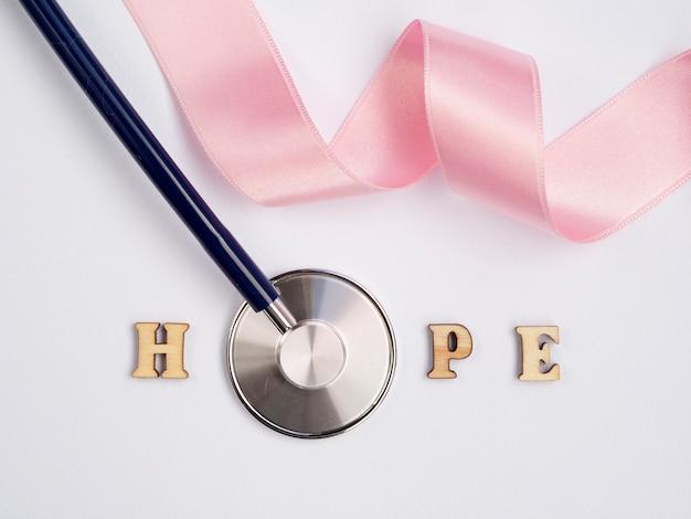 Flat lay cancer awareness arrangement