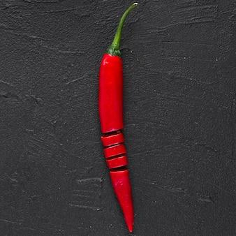 Flat lay of chili