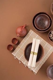 平箸とお椀の配置
