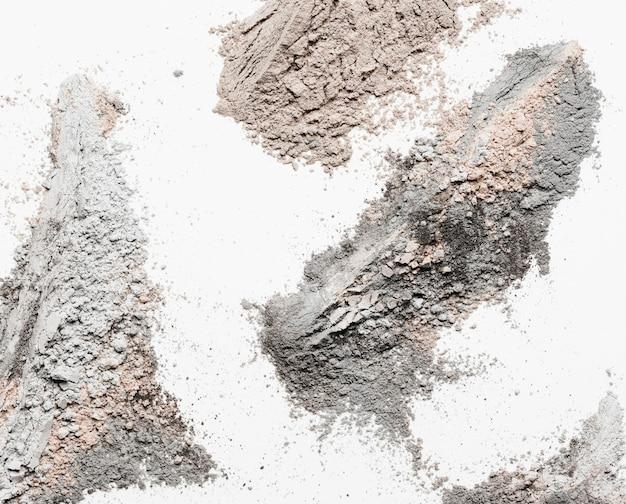 Плоская глиняная пудра