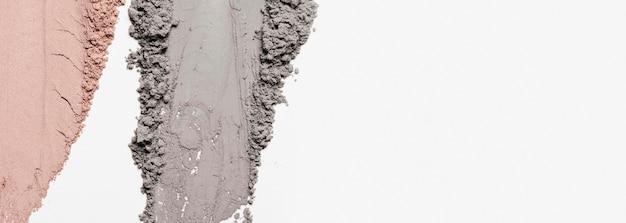 Плоское глиняное пятно с копией пространства