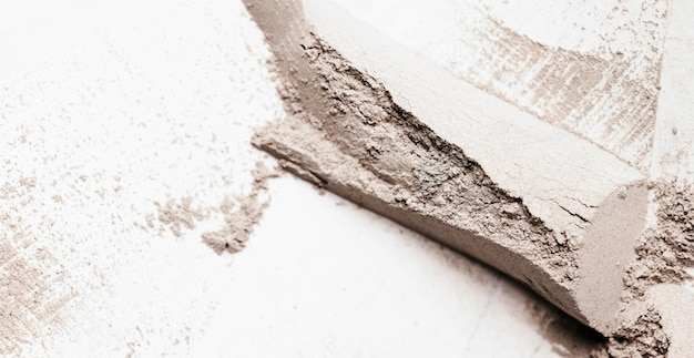 Macchia di argilla piatta