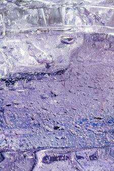 Плоский крупный план водно-спиртового геля