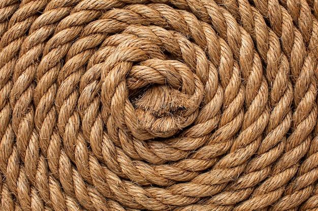 Primo piano piatto della composizione della trama della corda