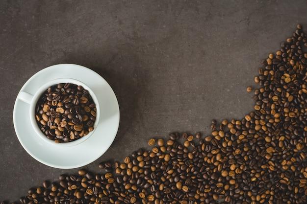 Flat lay coffee bean