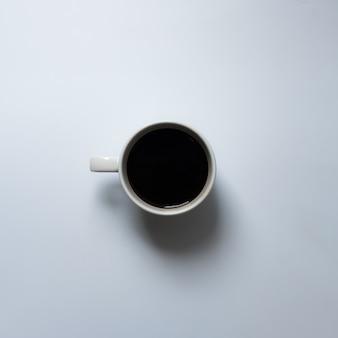 Flat lay coffee cup