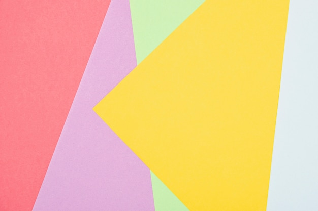 Flat lay colorful shapes