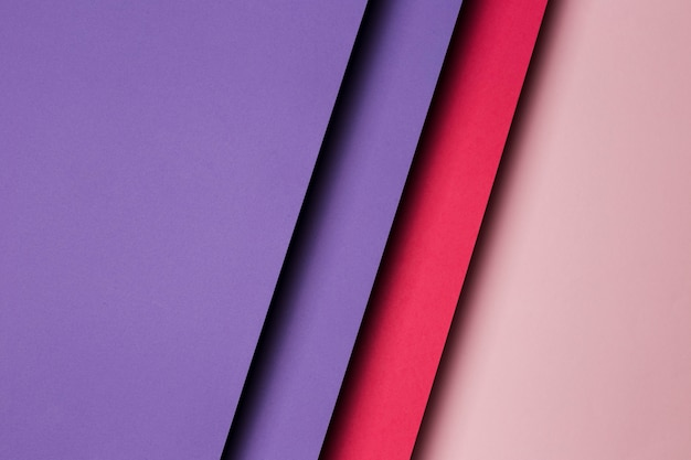 Flat lay composition of multicolored paper sheets