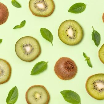 맛있는 익은 농산물의 평평한 평신도 구성