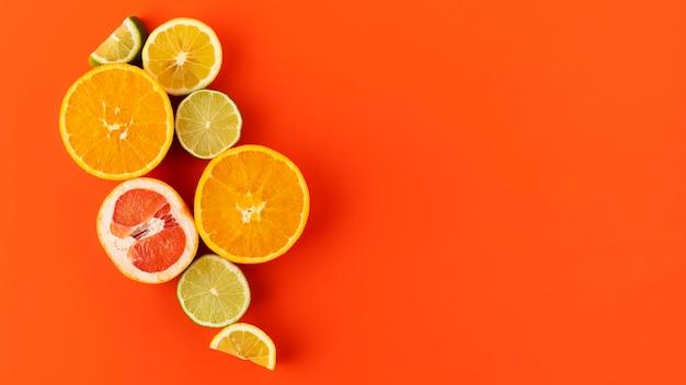건강한 채식 음식의 평면 위치 구성