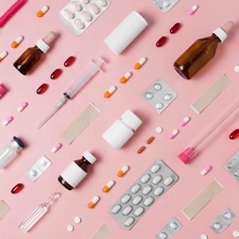 Плоская композиция из медицинских элементов