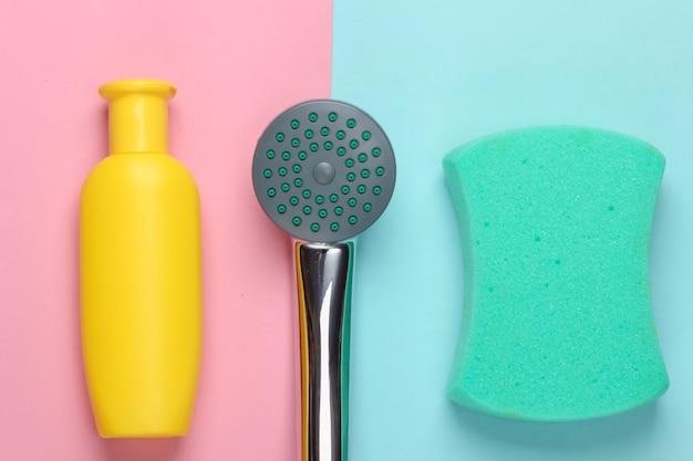 Плоский состав душевой лейки для ванной и банных принадлежностей