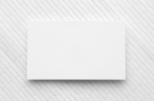 Flat lay copy space business card on white background