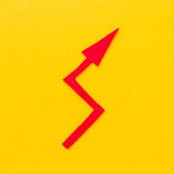 Flat lay of crooked arrow