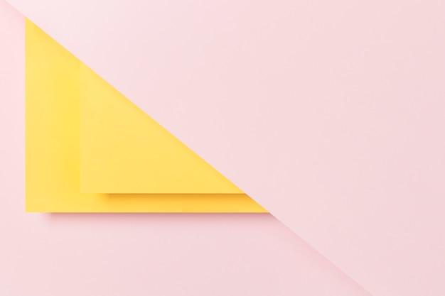 Flat lay cupboard geometric shape design