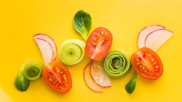 Плоско нарезанные овощи