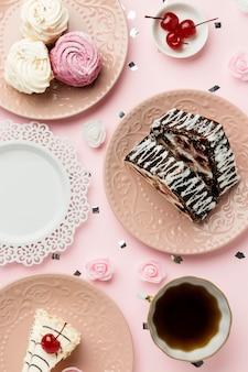 Плоская планировка вкусных конфет