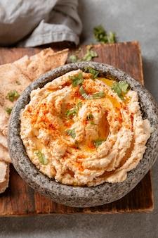 Плоская планировка вкусного еврейского блюда