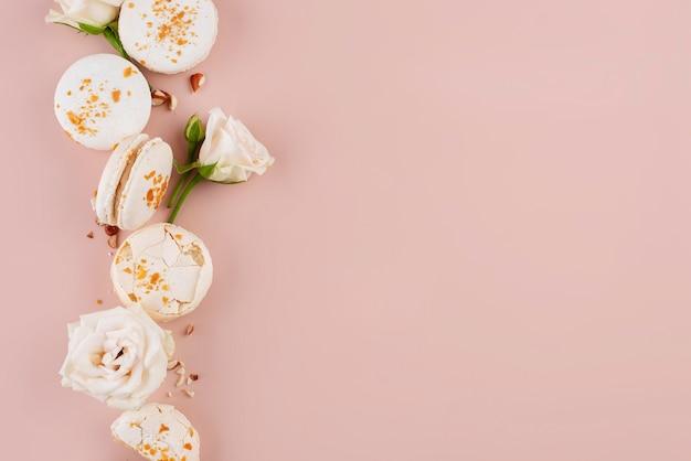 Плоская планировка вкусных макарон