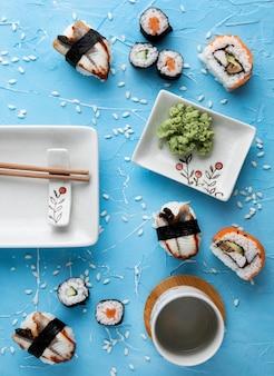 Piatto di laici deliziosi sushi concept