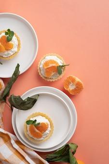 フラットレイ美味しいスイーツアレンジ