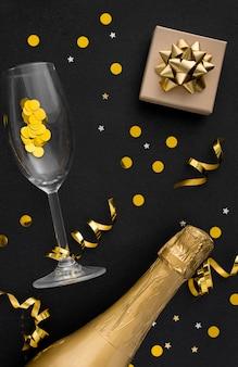 Flat lay of elegant birthday concept
