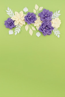 Flat lay floral frame with copy-space
