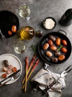 Плоская планировка еды и специй