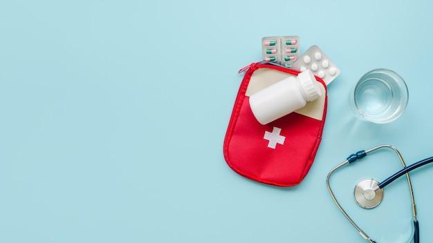 Плоская прокладка с таблетками