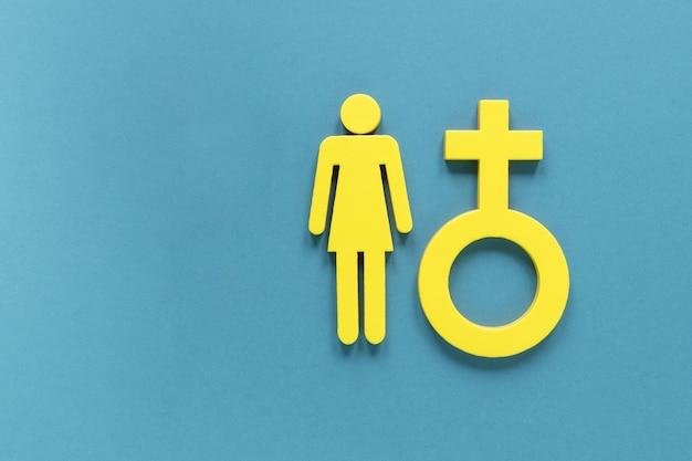 Flat lay gender symbol
