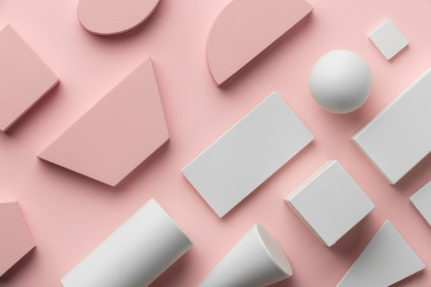 Flat lay of geometrical shapes