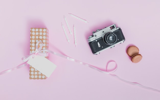 Flat lay gift concept