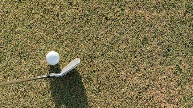 Flat lay golf ball